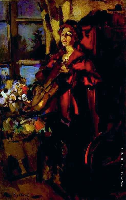 Коровин К. А. Женщина с гитарой