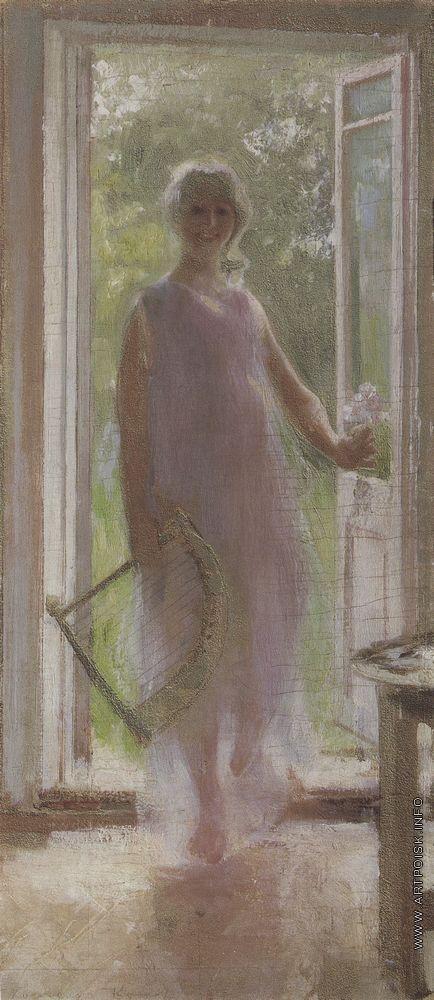 Коровин К. А. Девушка на пороге