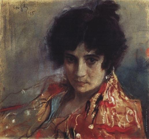 Серов В. А. Портрет неизвестной