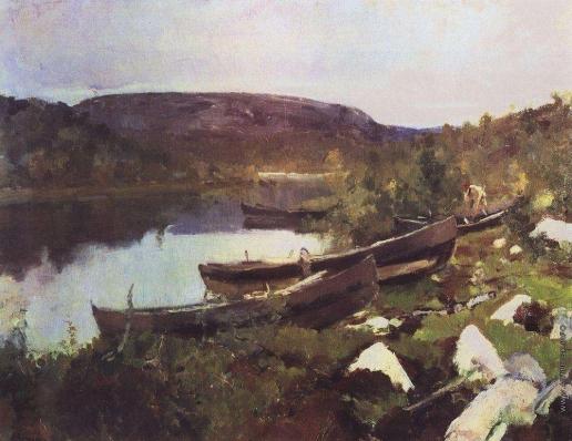 Коровин К. А. Ручей Святого Трифона в Печенге