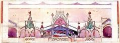 Коровин К. А. Кустарная улица. Эскиз павильона к выставке 1900 года в Париже