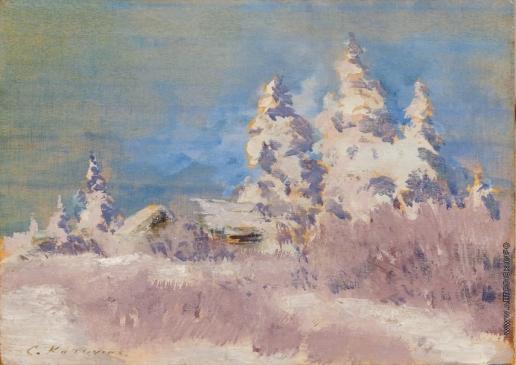 Коровин К. А. Зима. Иней
