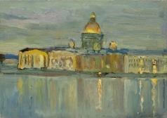 Коровин К. А. Вид Исаакиевского собора с Невы