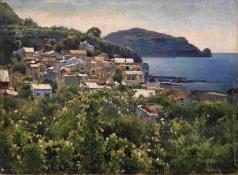 Беркос М. А. Вид на Казамичьолу, Неаполь