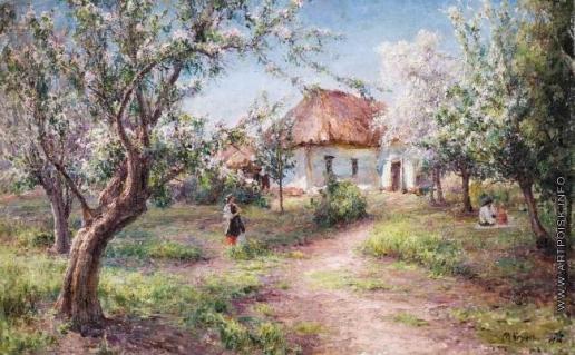 Беркос М. А. Весна. Цветут яблони