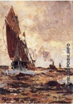 Беркос М. А. Парусник на море