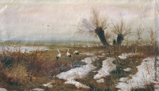 Светославский С. И. Пейзаж с аистами