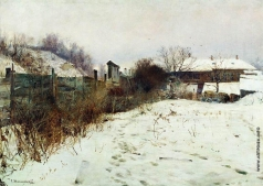 Светославский С. И. Усадьба художника зимой