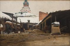 Светославский С. И. Постоялый двор в Москве (Извозничий двор в Замоскворечье)