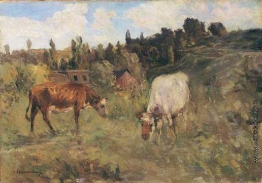 Светославский С. И. На окраине села. Коровы
