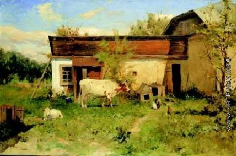 Светославский С. И. Пейзаж с коровой