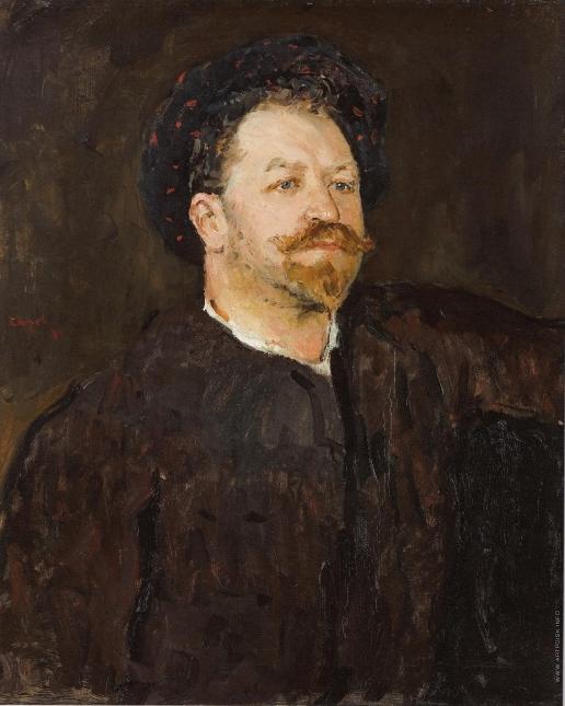 Серов В. А. Портрет итальянского певца Франческо Таманьо