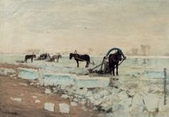 Светославский С. И. Заготовка льда