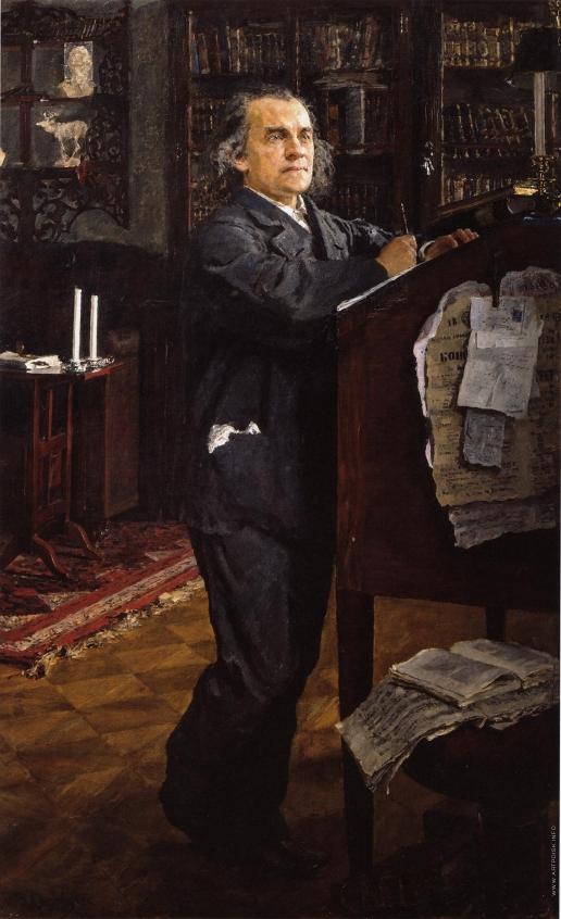 Серов В. А. Портрет композитора А.Н.Серова, отца художника