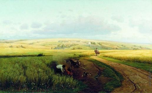 Орловский В. Д. Костер в поле