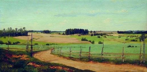 Орловский В. Д. Летний пейзаж с дорогой