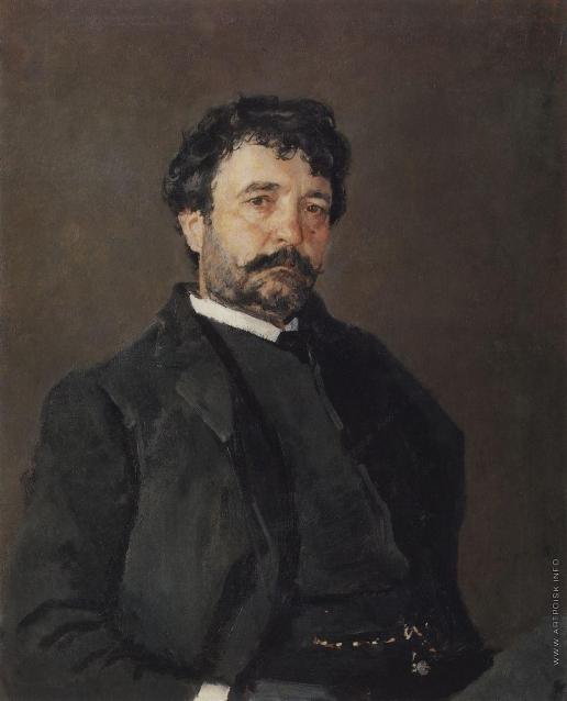Серов В. А. Портрет итальянского певца Анджело Мазини