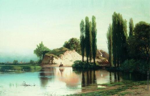 Орловский В. Д. Пейзаж с рекой в Малороссии
