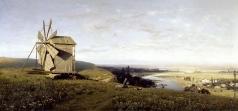 Орловский В. Д. Украинский пейзаж с ветряной мельницей