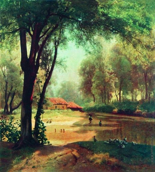 Орловский В. Д. Хаты в лесу. Тишина