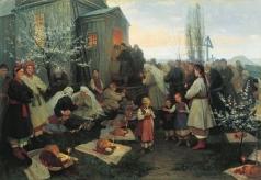 Пимоненко Н. К. Пасхальная заутреня в Малороссии