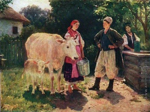 Пимоненко Н. К. Соперницы (Возле колодца)