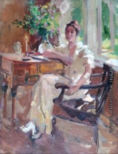 Коровин К. А. Дама в кресле