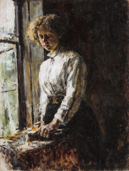 Серов В. А. У окна. (Портрет О.Ф. Трубниковой)