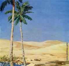 Хайкин Д. С. Иллюстрация к книге «Три пальмы» М.Ю.Лермонтова