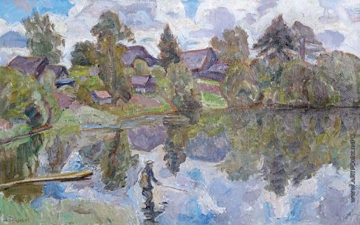 Тутунов А. А. Тихий день на озере