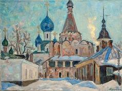 Тутунов А. А. Зима в монастыре