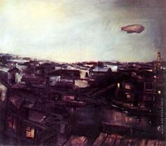 Щукин Ю. П. Дирижабль над городом