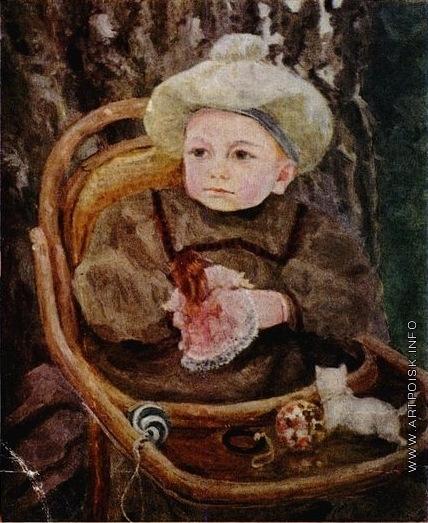 Малютин С. В. Портрет В.С. Малютина, сына художника