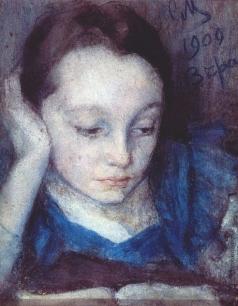 Малютин С. В. портрет Веры Малютиной, дочери художника