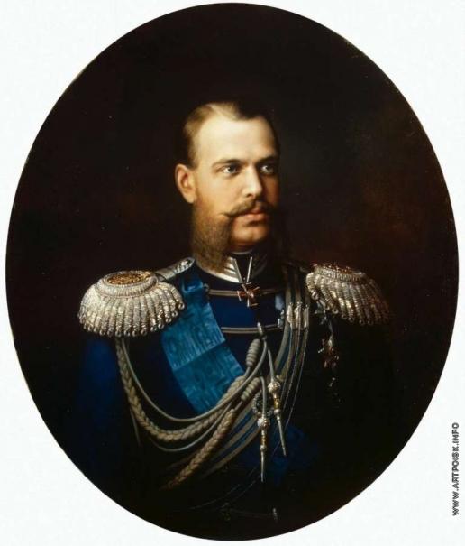 Худояров В. П. Портрет великого князя цесаревича Александра Александровича