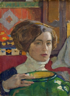 Киселева Е. А. Художница с зелёной вазой. Автопортрет