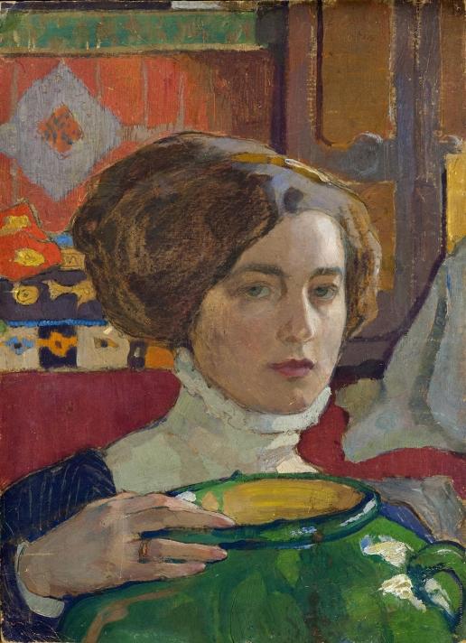 Киселева Е. А. Автопортрет с вазой