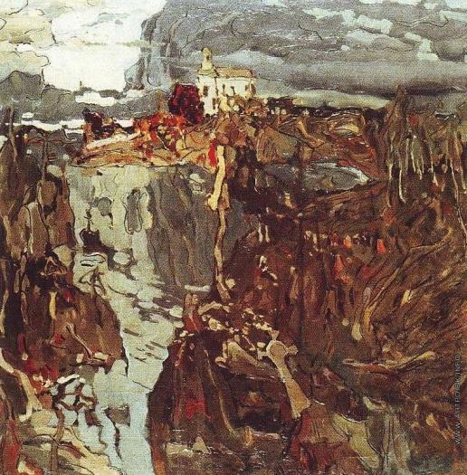 Колесников С. Ф. Пейзаж с кладбищем