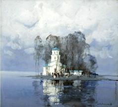 Колесников С. Ф. Церковь зимой