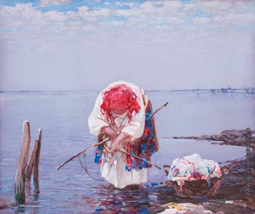 Колесников С. Ф. Прачка на берегу озера