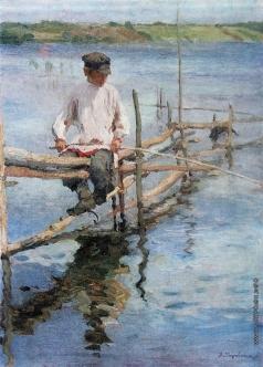 Моравов А. В. Мальчик-рыболов