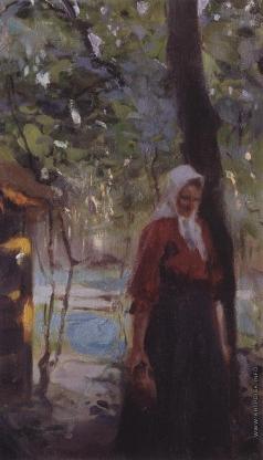 Серов В. А. Женщина с крынкой