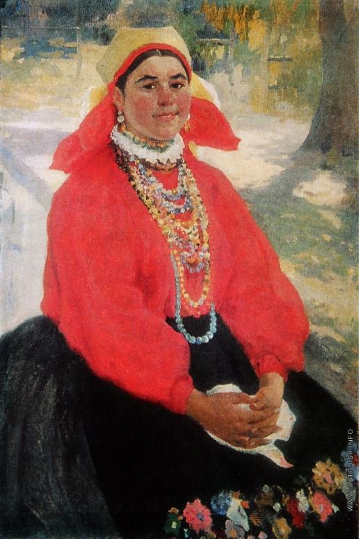 Бучкури А. А. Девушка в красной кофте