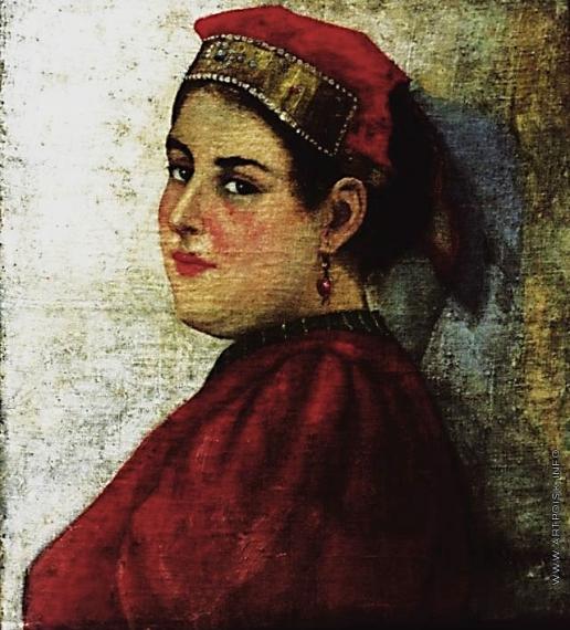 Бучкури А. А. Портрет женщины