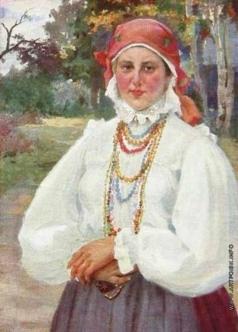 Бучкури А. А. Крестьянка Моня в саду