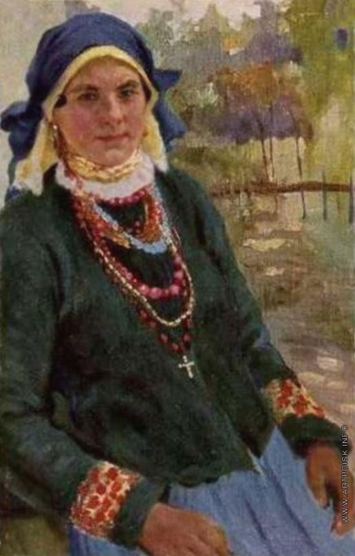Бучкури А. А. Крестьянка в праздничном наряде