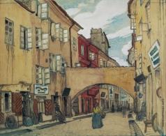Добужинский М. В. Стеклянная улица в Вильно