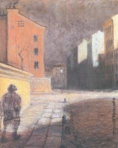 Добужинский М. В. Улица в Мюнхене