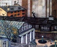 Добужинский М. В. Садик в городе