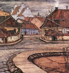 Добужинский М. В. Улица Тилто в старом Вильно